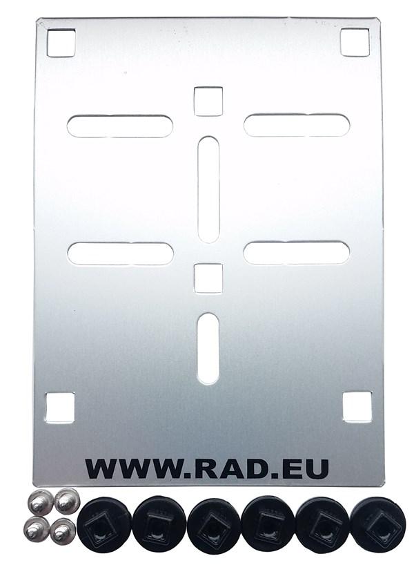 RAD Nummerplaathouder bromfietsen aluminium RAD