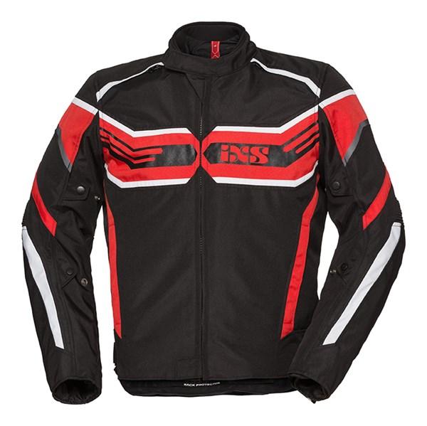IXS RS-400-ST Jacket Zwart - Rood - Wit
