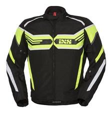 IXS RS-400-ST Jacket Zwart - Fluo Geel - Wit
