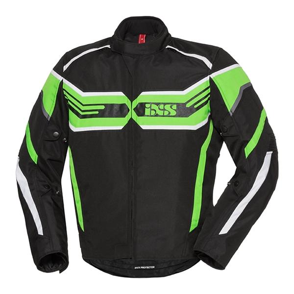 IXS RS-400-ST Jacket Noir - Vert - Blanc