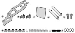 GIVI Specifieke montagekit voor toolbox S250