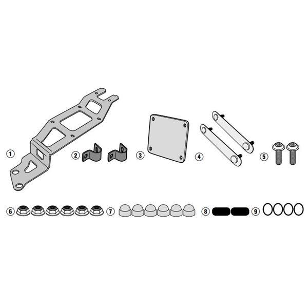 GIVI Specifieke montagekit voor toolbox S250 TL5102KIT