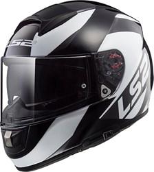 LS2 FF397 Vector Wavy Zwart-Titanium-Wit