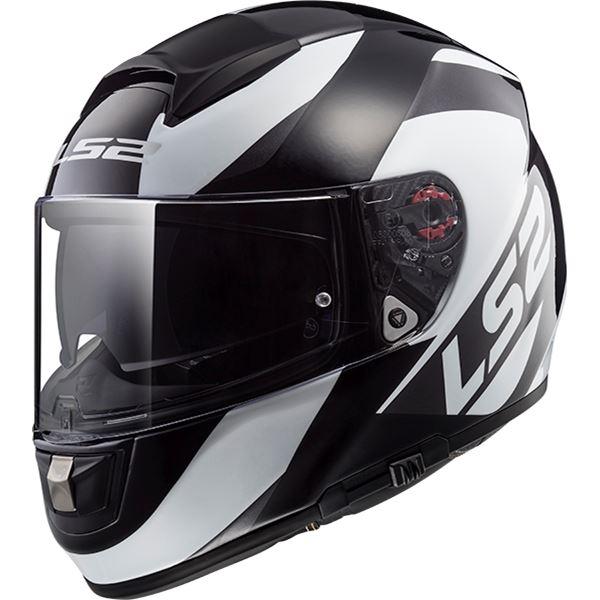 LS2 FF397 Vector Wavy Noir-Titanium-Blanc