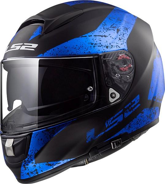 LS2 FF397 Vector Sign Mat Zwart - Blauw