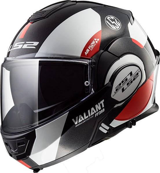 LS2 FF399 Valiant Avant Blanc-Noir-Rouge