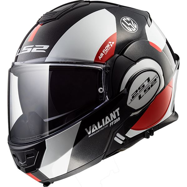 LS2 FF399 Valiant Avant Wit-Zwart-Rood