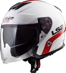 LS2 OF521 Infinity Smart Blanc-Rouge