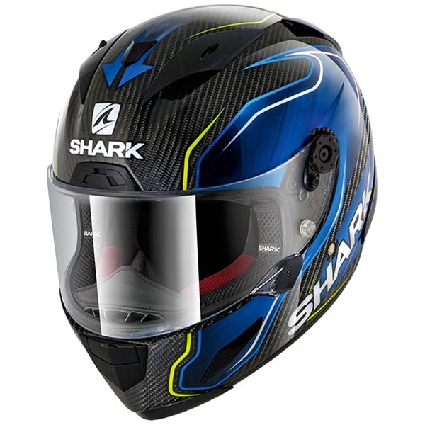 SHARK RACE-R Pro Carbon Replica Guintoli Carbon-Bleu-Jaune DBY