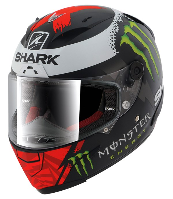 SHARK RACE-R Pro Replica Lorenzo Monster 2017 Mat Noir-Rouge-Blanc KRW