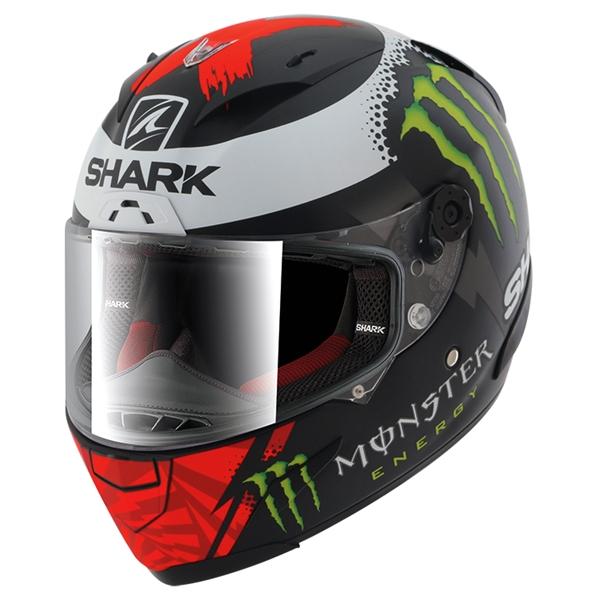 SHARK RACE-R Pro Replica Lorenzo Monster 2017 Mat Zwart-Rood-Wit KRW