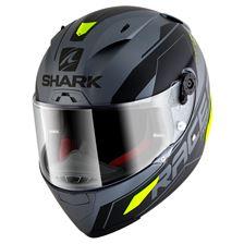 SHARK RACE-R Pro Sauer Mat Antraciet-Zwart-Geel AKY
