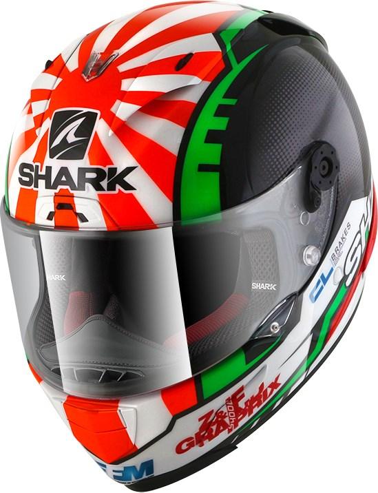 SHARK RACE-R Pro Replica Zarco 2017 Zwart-Rood-Groen KRG