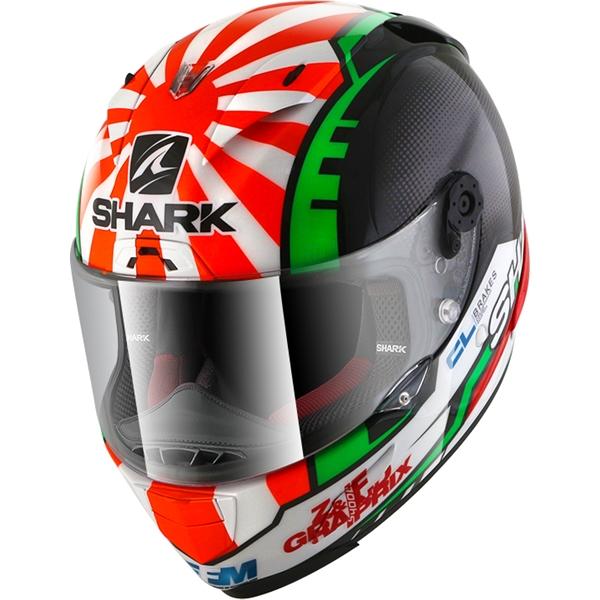 SHARK RACE-R Pro Replica Zarco 2017 Noir-Rouge-Vert KRG