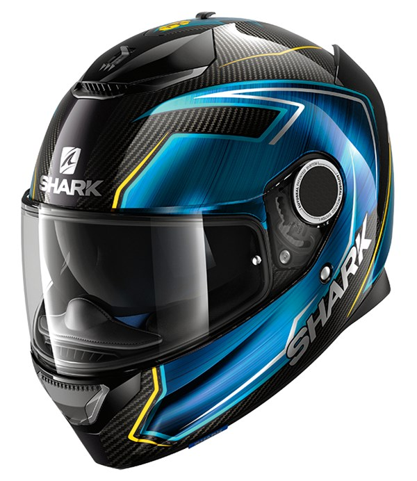 SHARK Spartan Carbon Guintoli Carbon-Blauw-Geel DBY
