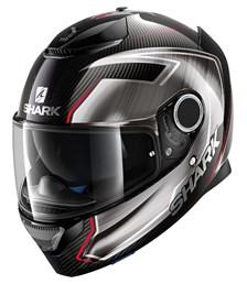 SHARK Spartan Carbon Guintoli Carbone-Chrome-Rouge DUR