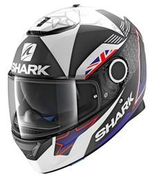 SHARK Spartan Replica Redding 2017 Mat Zwart-Blauw-Wit KBW