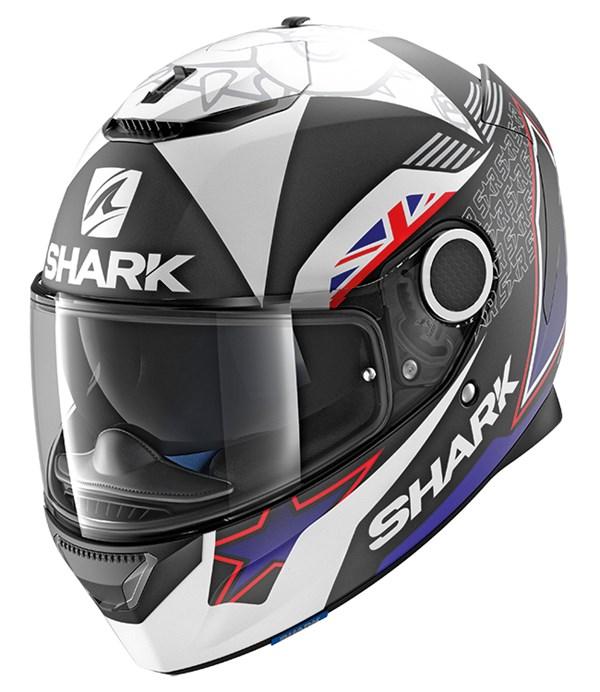 SHARK Spartan Replica Redding 2017 Mat Noir-Bleu-Blanc KBW