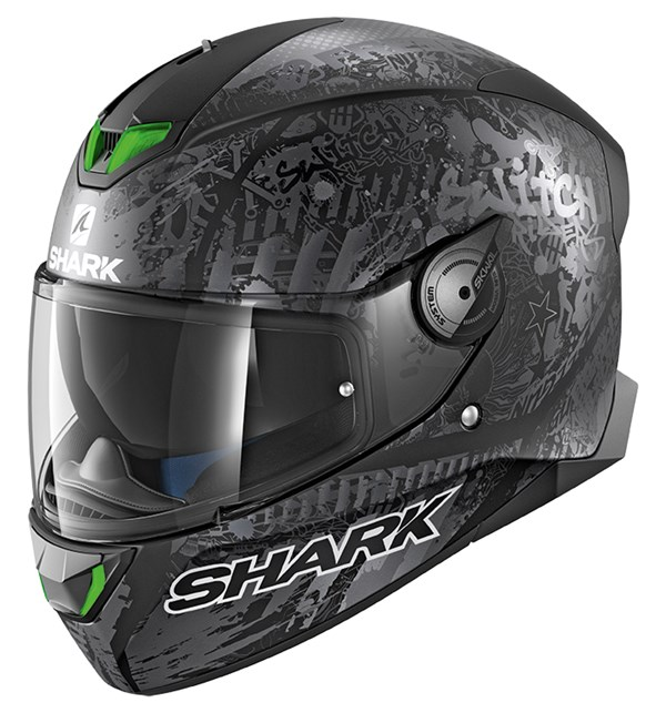 SHARK Skwal 2 Rep. Switch Riders 2 Mat Noir-Anthracite-Argent KAS