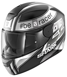 SHARK D-Skwal Replica Sam Lowes Mat Noir-Anthracite-Blanc KAW