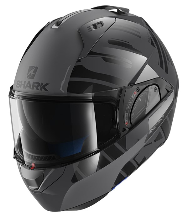 SHARK Evo-One 2 Lithion Dual Anthracite-Noir-Anthracite AKA