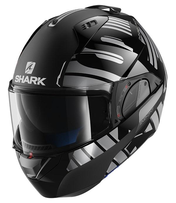 SHARK Evo-One 2 Lithion Dual Noir-Chrome-Anthracite KUA