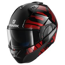 SHARK Evo-One 2 Lithion Dual Zwart-Chroom-Rood KUR