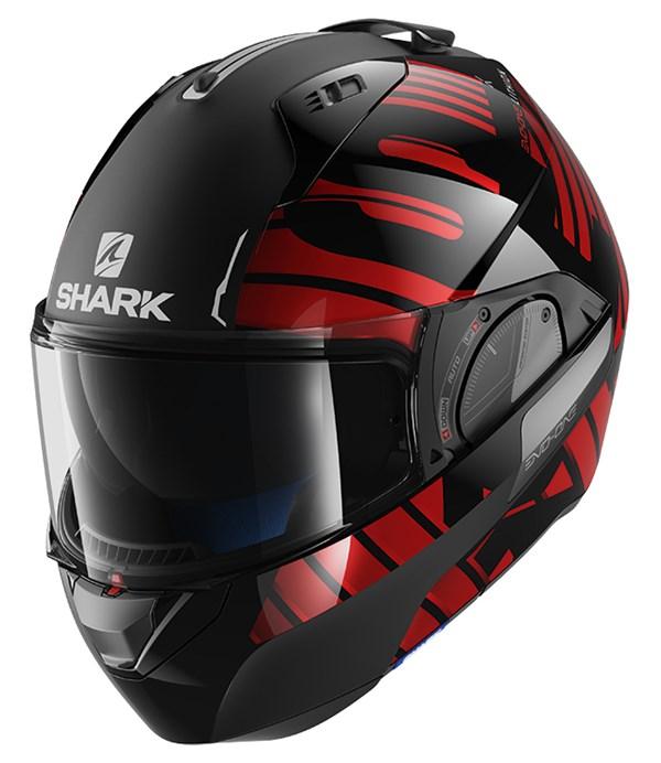 SHARK Evo-One 2 Lithion Dual Noir-Chrome-Rouge KUR