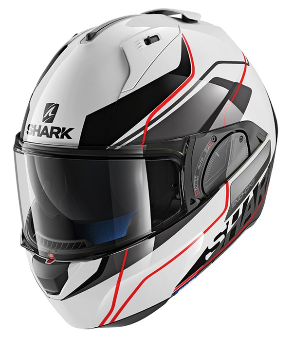 SHARK Evo-One 2 Krono Wit-Zwart-Rood WKR