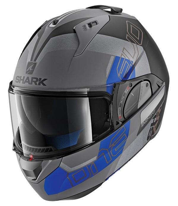 SHARK Evo-One 2 Slasher Mat Anthracite-Noir-Bleu AKB
