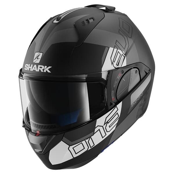 SHARK Evo-One 2 Slasher Mat Noir-Anthracite-Blanc KAW