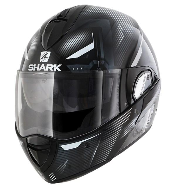 SHARK Evoline 3 Shazer Zwart-Wit-Wit KWW