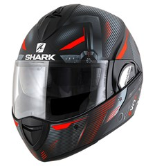 SHARK Evoline 3 Shazer Mat Noir-Rouge-Argent KRS