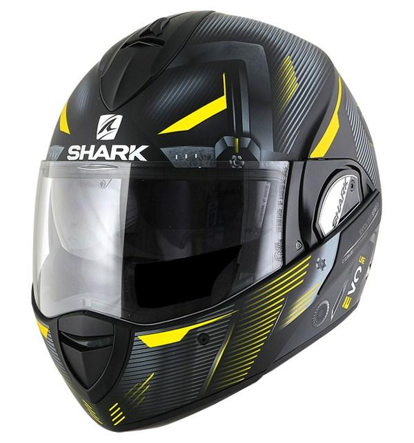 SHARK Evoline 3 Shazer Mat Zwart-Geel-Zilver KYS
