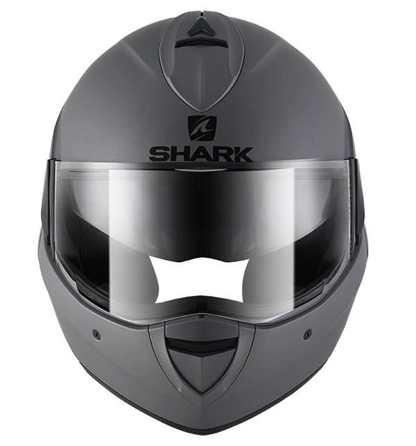 SHARK Evoline 3 Blank Mat antraciet AMA