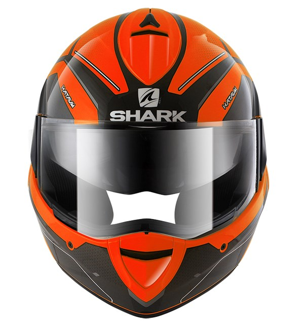 SHARK Evoline 3 Hataum High Visibility Orange-Noir-Anthracite OKA