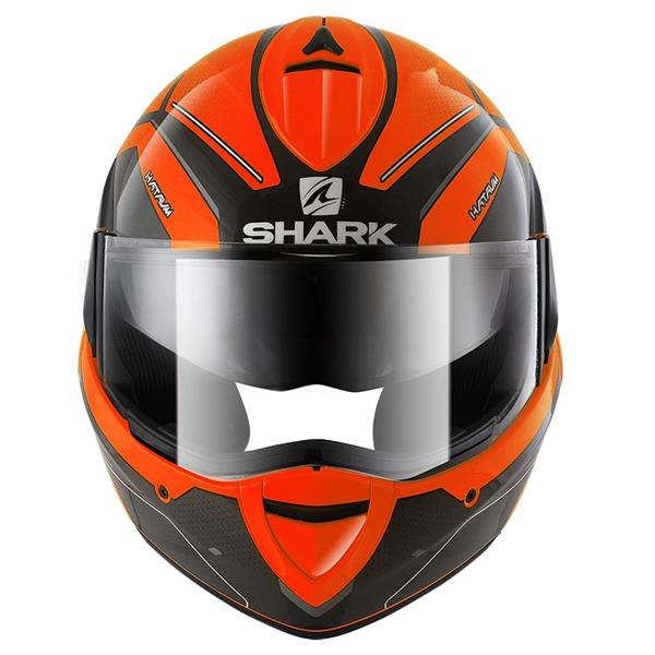 SHARK Evoline 3 Hataum High Visibility Oranje-Zwart-Antraciet OKA