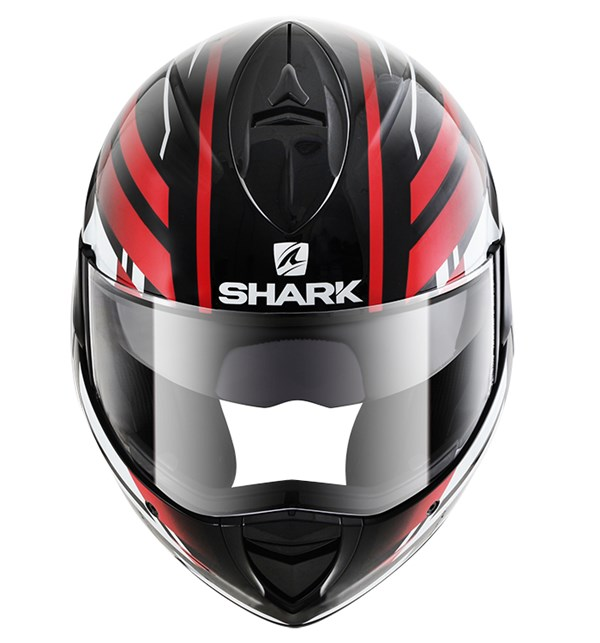 SHARK Evoline 3 Corvus Noir-Blanc-Rouge KWR