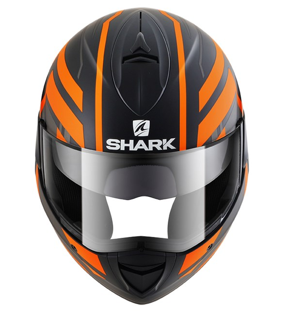SHARK Evoline 3 Corvus Mat Noir-Anthracite-Orange KAO