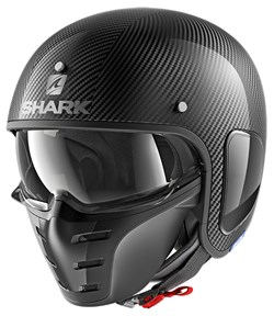 SHARK : S-Drak Blank Carbon Skin - Carbone-Argent-Noir DSK