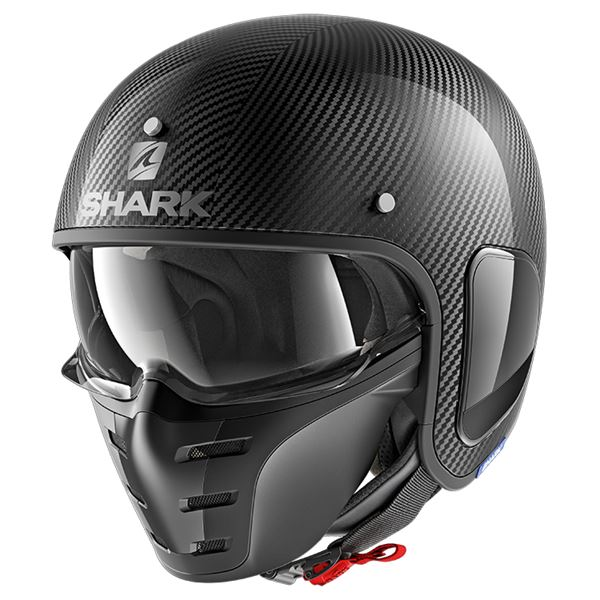 SHARK S-Drak Carbon Skin Carbon-Argent-Noir DSK