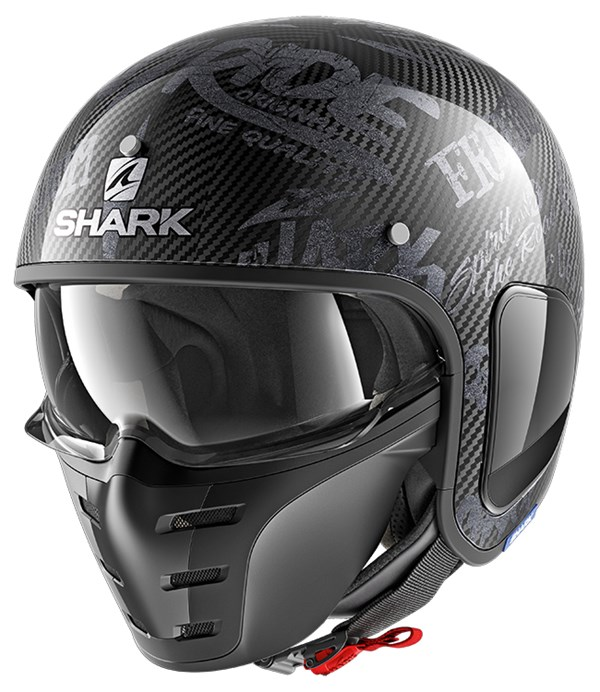 SHARK S-Drak Carbon Freestyle Cup Carbone-Anthracite-Anthracite DAA