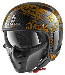 SHARK S-Drak Carbon Freestyle Cup Carbone-Or-Or DQQ