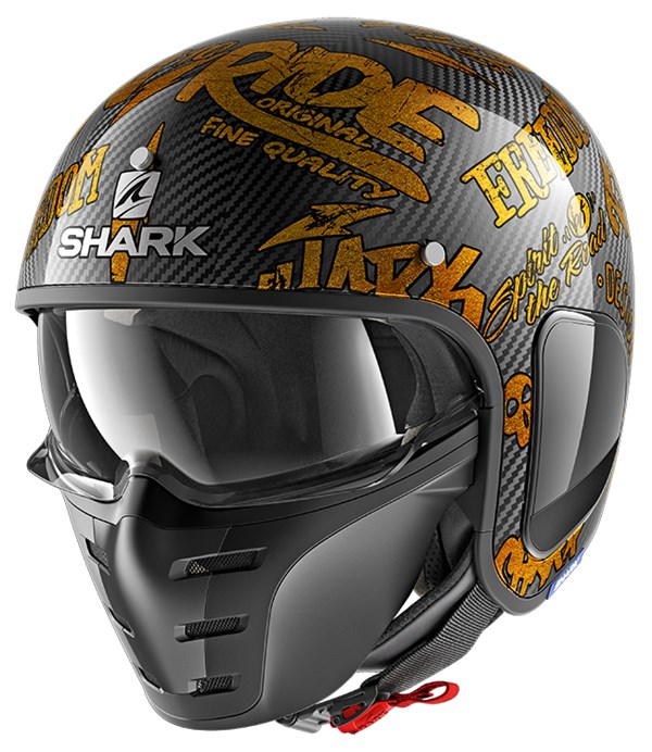 SHARK S-Drak Carbon Freestyle Cup Carbon-Goud-Goud DQQ