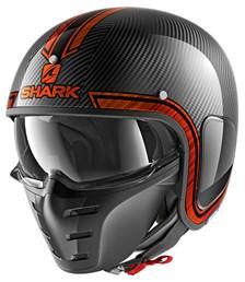 SHARK S-Drak Carbon Vinta Carbone-Chrome-Orange DUO