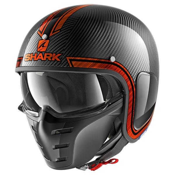 SHARK S-Drak Carbon Vinta Carbon-Chroom-Oranje DUO