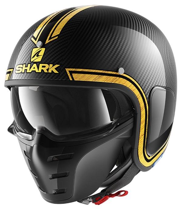 SHARK S-Drak Carbon Vinta Carbon-Chroom-Goud DUQ