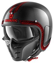 SHARK S-Drak Carbon Vinta Carbone-Chrome-Rouge DUR