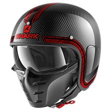 SHARK S-Drak Carbon Vinta Carbone-Chrome-Rouge DUR