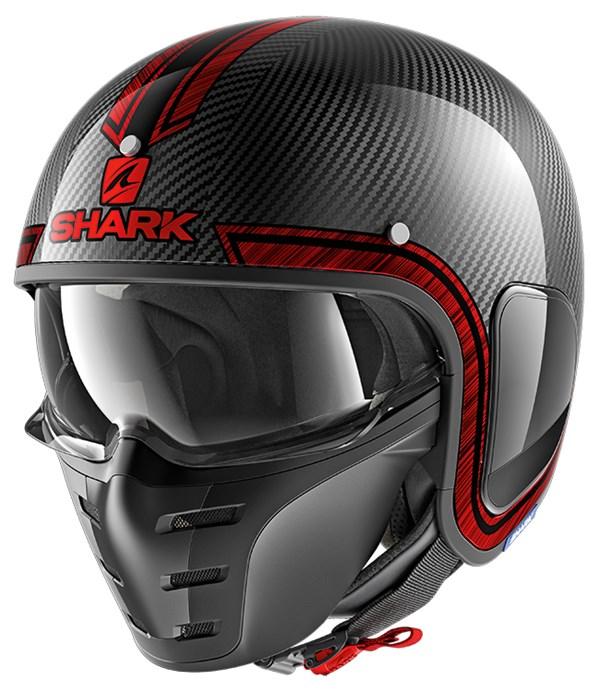 SHARK S-Drak Carbon Vinta Carbon-Chroom-Rood DUR